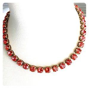 J crew Swarovski coral necklace